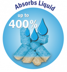 CHIPSI absorbs water